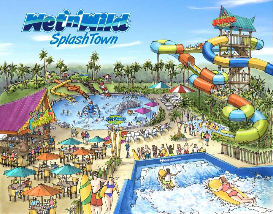 A rendering of Wet 'n' Wild SplashTown, set to re-open May 2. (Courtesy Premier Parks)