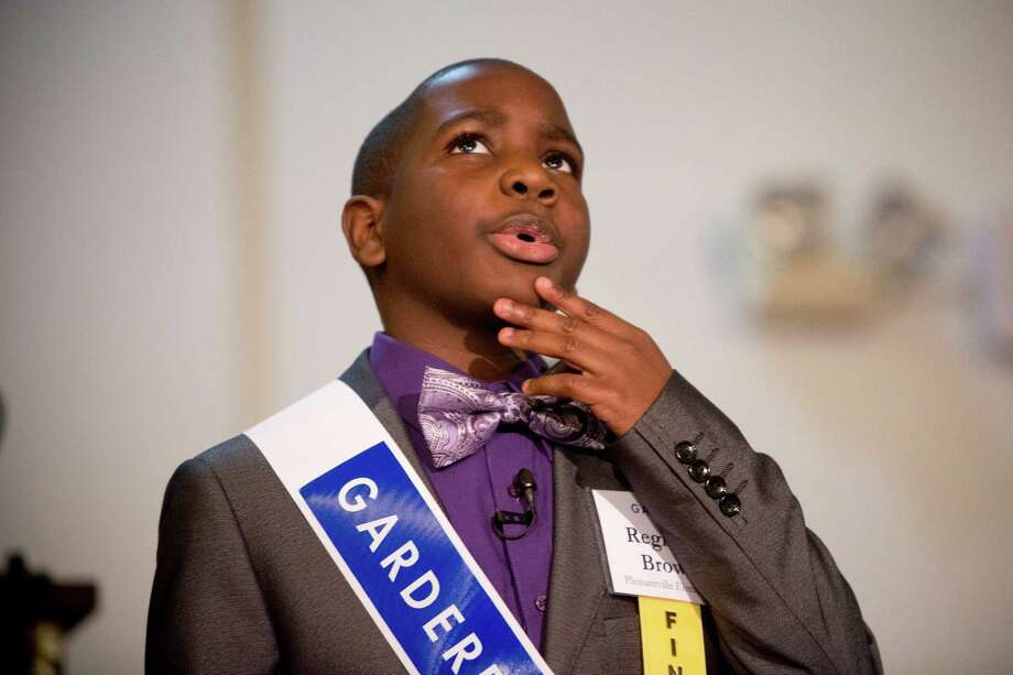 Reginald Brown of Pleasantville Elementary School is one of the finalists participating on the 18th Annual Gardere MLK Jr. Oratory Competition, Friday, Jan. 17, 2014, in Houston. Photo: Marie D. De Jesus, Houston Chronicle / © 2014 Houston Chronicle