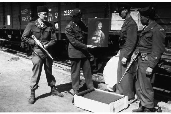 Polish art historian Karol Estreicher with MFAA officer Lt. Frank P. Albright and two American GIs as they prepare to return Leonardo da VinciÕs Lady with an Ermine to the Czartoryski Museum in Cracow, Poland, from which it had been stolen by the Nazis. Photo Source: Lynn Nicholas Ran on: 05-04-2007 Bernard Taper of Berkeley, a longtime writer for the New Yorker, tracked down many artworks as one of the U.S. Army's so-called Monument Men.