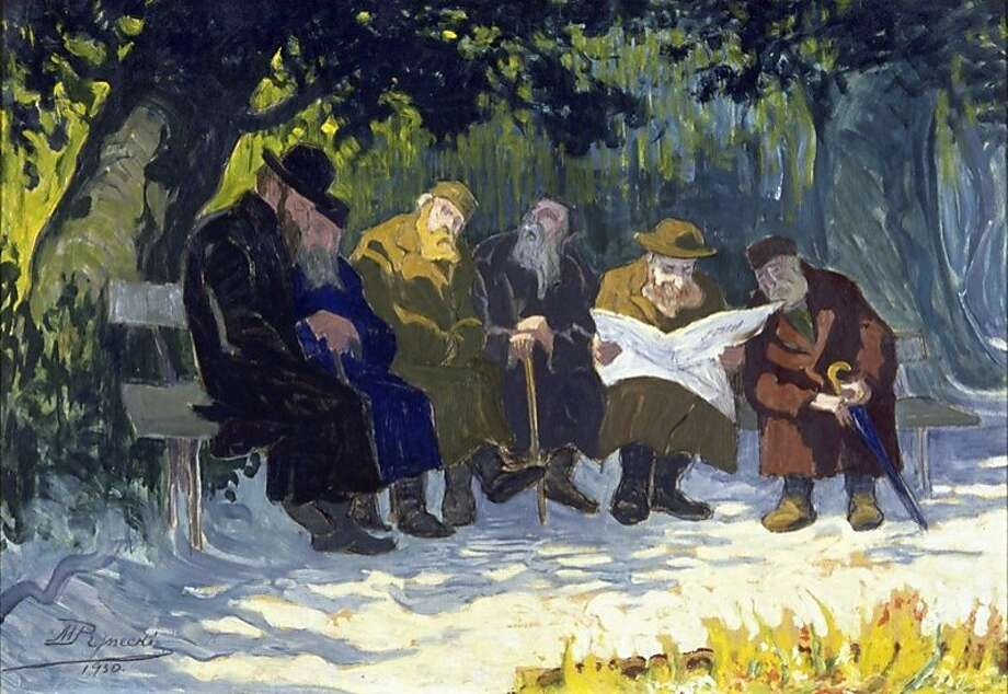 "Moshe Rynecki's paintings ""Krasinski Park,"" top, and ""The Water Carriers,"" above, are safely in his family's possession. Many of his works were lost when the Nazis invaded Poland during World War II. Photo: Moshe Rynecki, Photo Courtesy The Rynecki Famil"