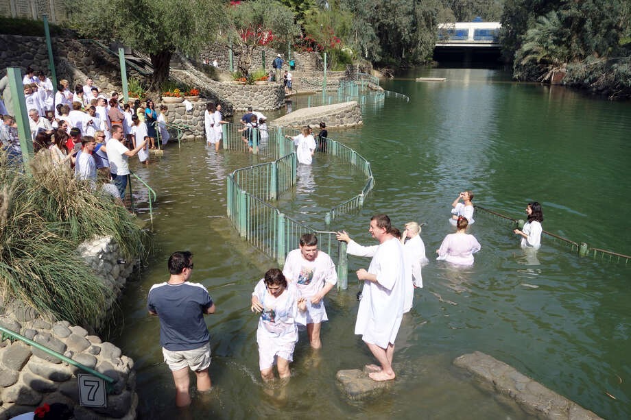 Christians from around the world come to Yardenit near the Sea of Galilee to be baptized in the River Jordan. (photo: Rick Steves) Photo: Ricksteves.com