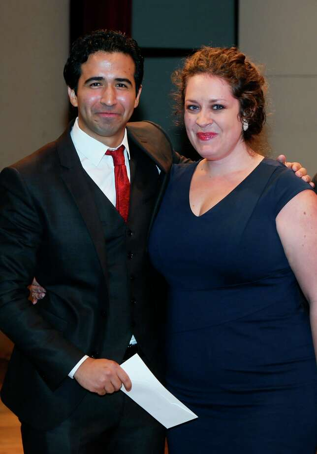 Tenor Rafael Moras, a Rice University graduate student, and soprano Natalie Cummings, a soprano from Lakeway, will compete in New York in the semifinals of the Metropolitan Opera National Council Auditions. Photo: Elroy Eckhardt