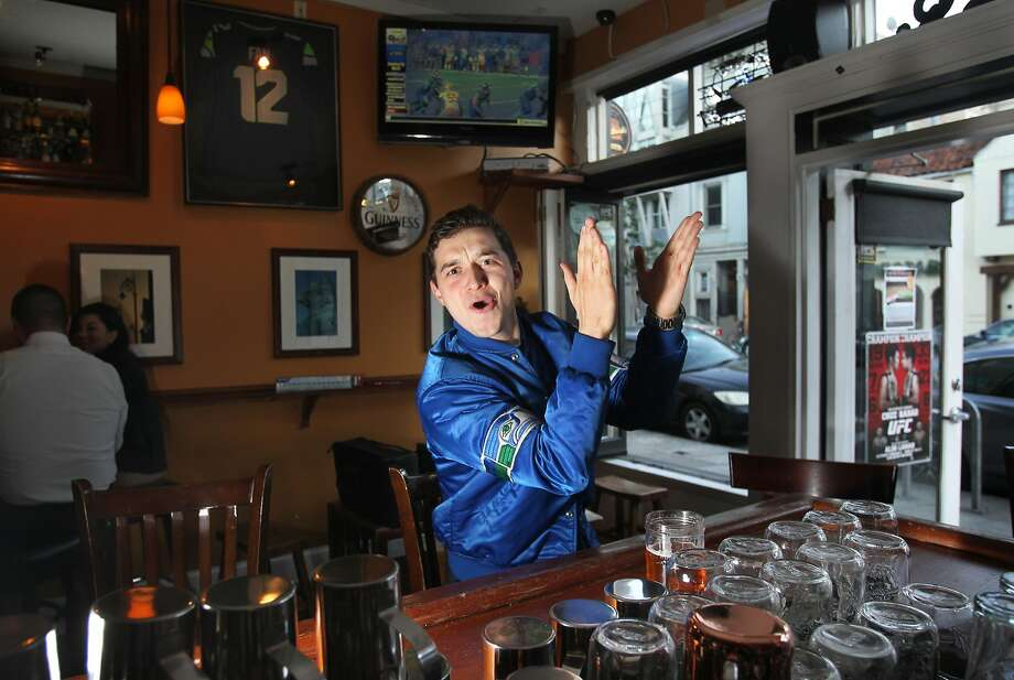 Jerome Zech has transformed Danny Coyle's from a fairly typical Irish pub to a haven for Seattle Seahawks fans. Photo: Leah Millis, The Chronicle
