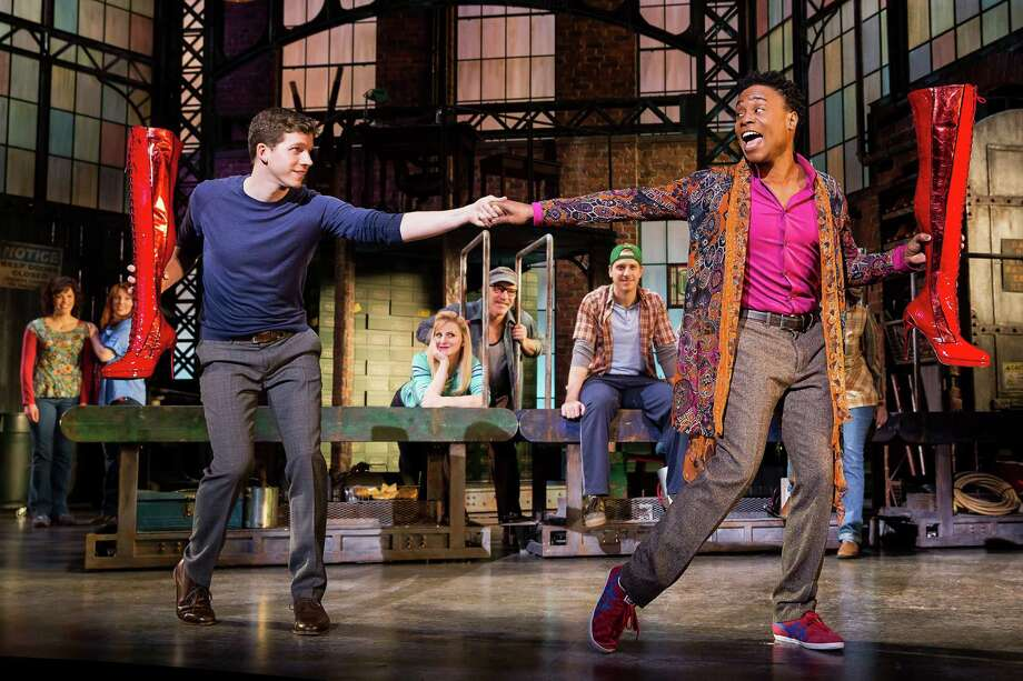 "TUTS' new season will include ""Kinky Boots,"" which won the 2013 Tony as best musical. The Broadway production stars Stark Sands, left, and Billy Porter. Photo: (c)Matthew Murphy / Matthew Murphy"