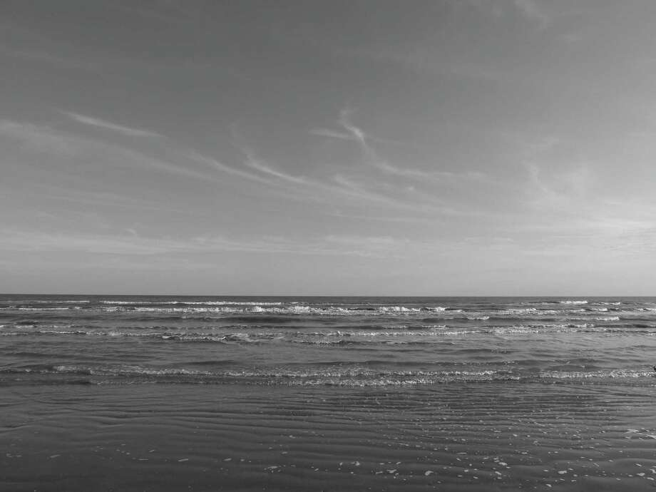 Seascape: Gulf of Mexico in Galveston, after 3 hours of walking from Galveston to Marfa. Photo: Joshua Edwards