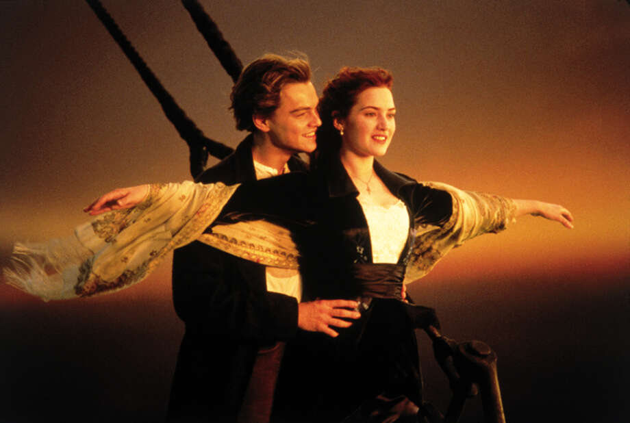 "This image released by Paramount Home Entertainment shows Kate Winslet and Leonardo DiCaprio in a scene from, ""Titanic."" Producers of the ambitious musical retelling of the famous 1912 sea tragedy said Thursday, Jan. 16, 2014 that a revival will be steaming back to Broadway in the fall 2014, following a tune-up in Toronto over the summer. (AP Photo/Paramount Pictures) Photo: Anonymous, HOEP / Paramount Home Entertainment"