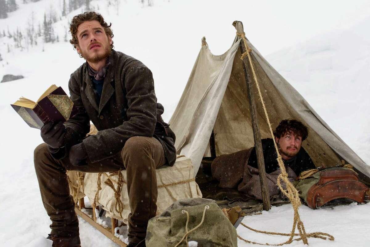 "Richard Madden, left, and Augustus Prew are seeking their fortune in ""Klondike."""