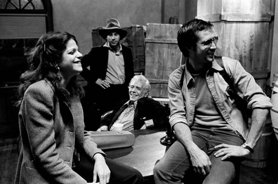 Gilda Radner, Desi Arnaz, and Chevy Chase during rehearsal for 'The Untouchables' skit on February 21, 1976.Keep clicking to take a look back at some behind-the-scenes pictures from 