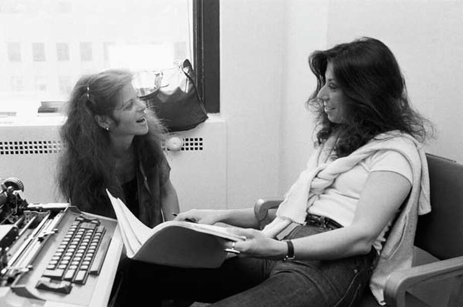 Gilda Radner and Saturday Night Live writer Marilyn Suzanne Miller share a moment, circa 1970s. Photo: NBC, NBCU Photo Bank Via Getty Images / 2012 NBCUniversal Media, LLC