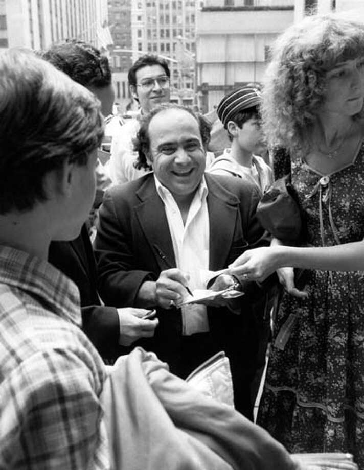 Danny DeVito signs autographs on May 15, 1982, the day he hosted the show. Photo: NBC, NBCU Photo Bank Via Getty Images / 2012 NBCUniversal Media, LLC