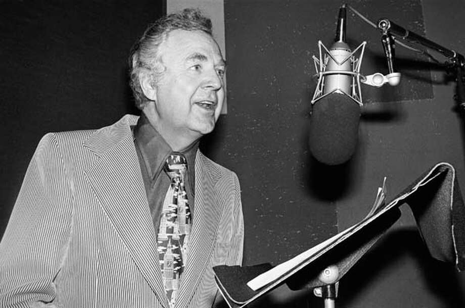 "Don Pardo, Saturday Night Live's long-time announcer with the booming voice (shown here in the 1970s), died in 2014. He was 96. Pardo was one of the constants in the show, which saw a new crop of actors every season. Even after his ""retirement,"" Pardo continued to fly to New York to voice his part. In his later years, he would record from his Arizona home.  Photo: NBC, NBCU Photo Bank Via Getty Images / 2012 NBCUniversal Media, LLC"