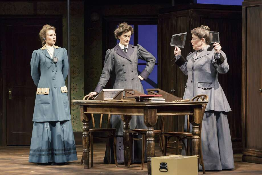 "Elena Wright (left), Annie Cannon and Williamina Fleming (Lynne Soffer) play early 20th century scientists in TheatreWorks' production of ""Silent Sky."" Photo: Tracy Martin"