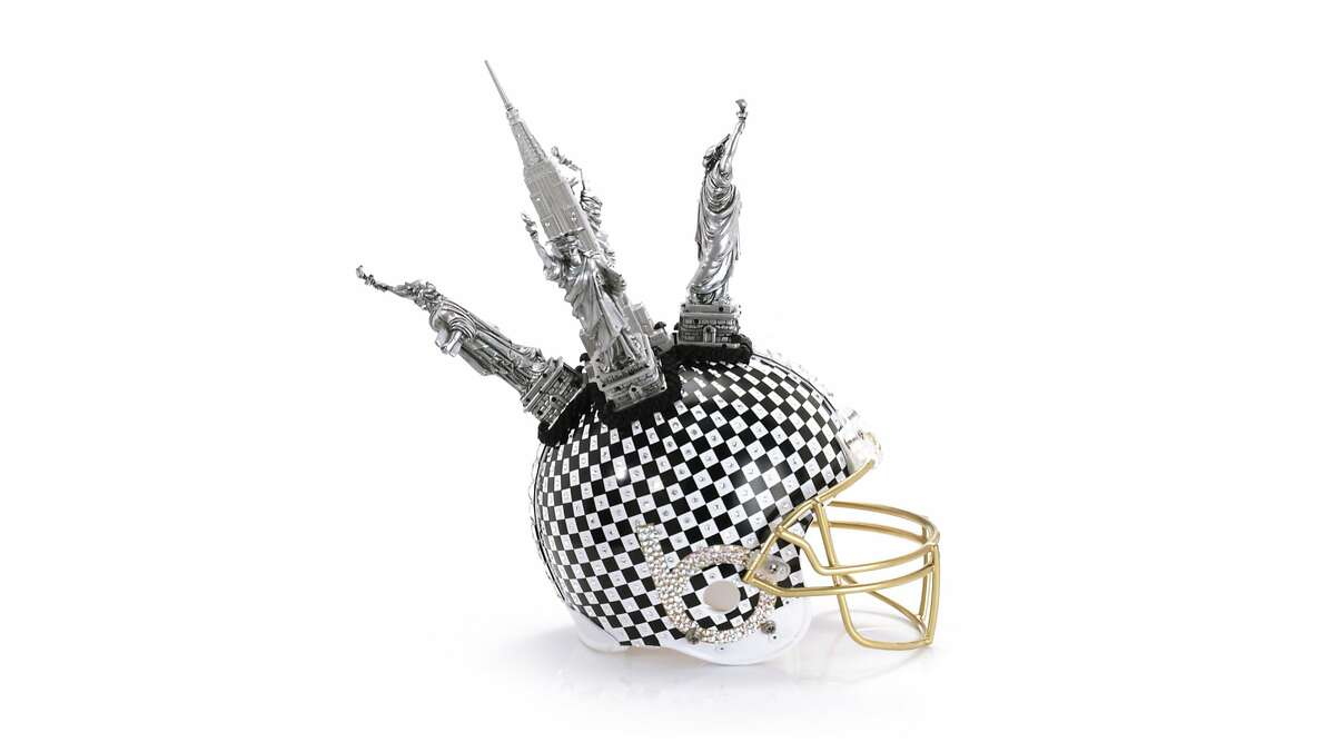 Bloomingdale's, the NFL and the Council of Fashion Designers of America (CFDA) have collaborated on the creation of 48 one-of-a-kind football helmets unlike any sports or fashion fans have ever seen. The helmets, designed by fashion luminaries including Alexis Bitar, Kenneth Cole and Donna Karan, range from the conceptual (Bloomingdale's own Statue of Liberty studded tribute) to couture (Marchesa's darkly glamorous embellished contribution) and are open to bidding until February 4 at Bloomingdales.com