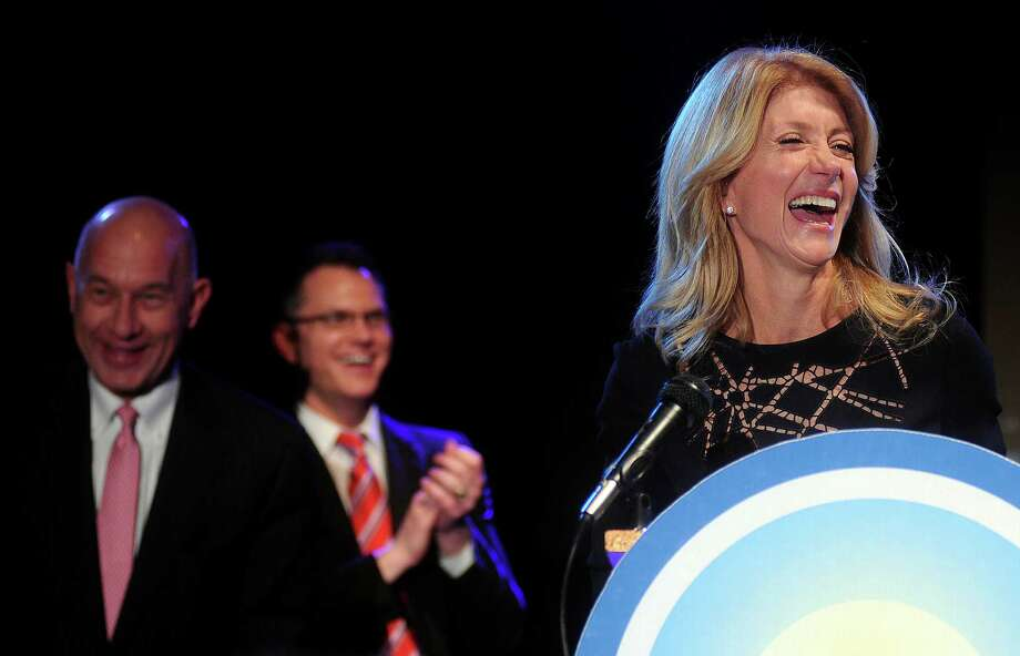 Campaign organizers for Democratic candidate state Sen. Wendy Davis said in the last six months of 2013,  she received 73 percent of her donations from Texas. Photo: Dave Rossman, Freelance / © 2013 Dave Rossman