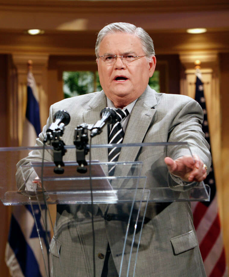"Pastor John Hagee told his congregation at Cornerstone Church Sunday that ""America has rewarded laziness and we've called it welfare,"" according to a video provided by the left-leaning Right Wing Watch. (AP Photo /J. Michael Short, File) Photo: AP / AP"