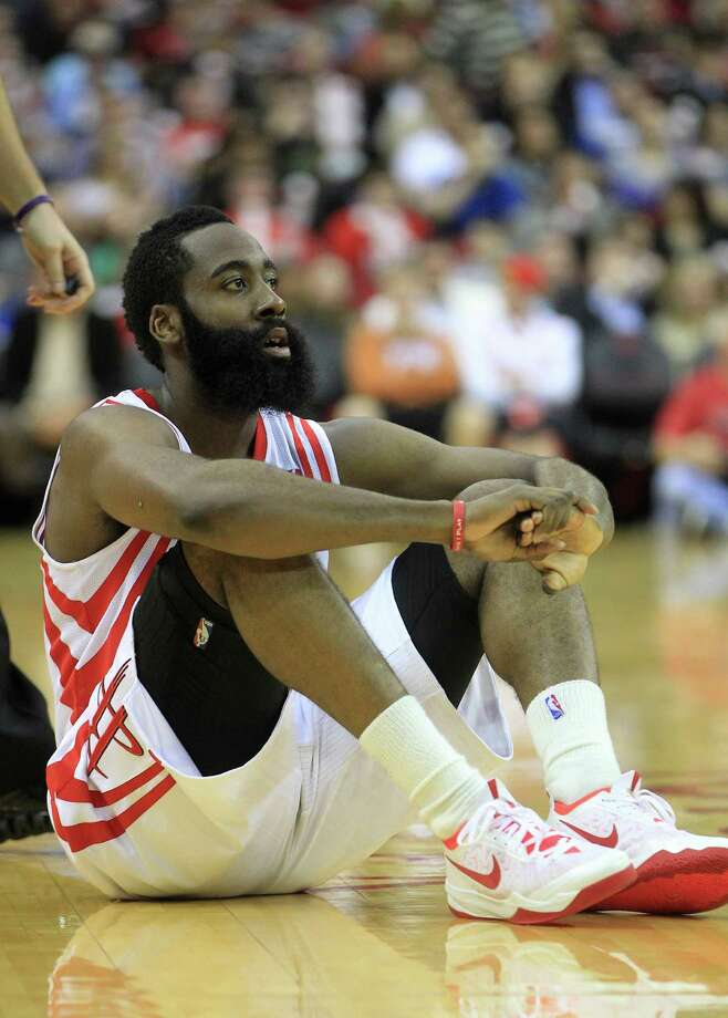 James Harden (13) had to wonder where the Rockets' offense went in Thursday's loss to the Thunder. He was a prime example, scoring 16 points in the first half and none in the second. Photo: Karen Warren, Staff / © 2013 Houston Chronicle