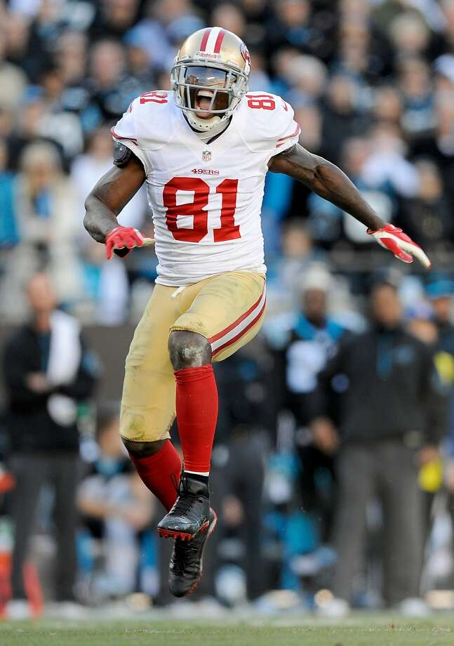 Anquan Boldin, with two Super Bowl appearances on his resume, is looking for No. 3 with the 49ers. Photo: Grant Halverson, Getty Images