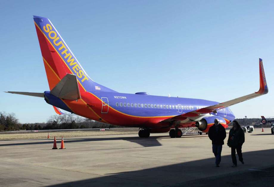 Southwest Airlines Flight 4013 from Chicago's Midway Airport to Branson, Mo., instead landed at Clark Airport in Hollister, Mo., which is 7 miles away from Branson. Photo: Valerie Mosley / Springfield News-Leader / Springfield News-Leader