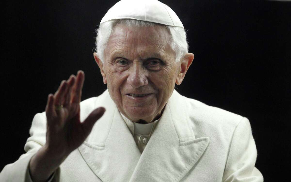 Pope Benedict XVI is shown in 2011. The Vatican's tone on sexual abuse by priests changed significantly from 2005, the first year it started reporting numbers, to 2012.