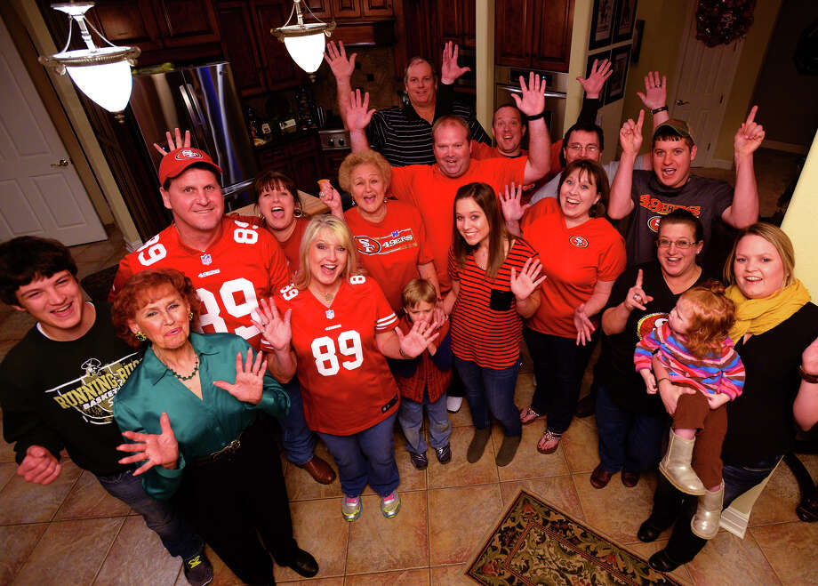 Friends and family of Vance McDonald show support for the former East Chambers High football player who is expected to play for the 49ers in this Sunday's NFC Championship game.   Photo taken Friday, January 17, 2014 Guiseppe Barranco/@spotnewsshooter Photo: Guiseppe Barranco, Photo Editor