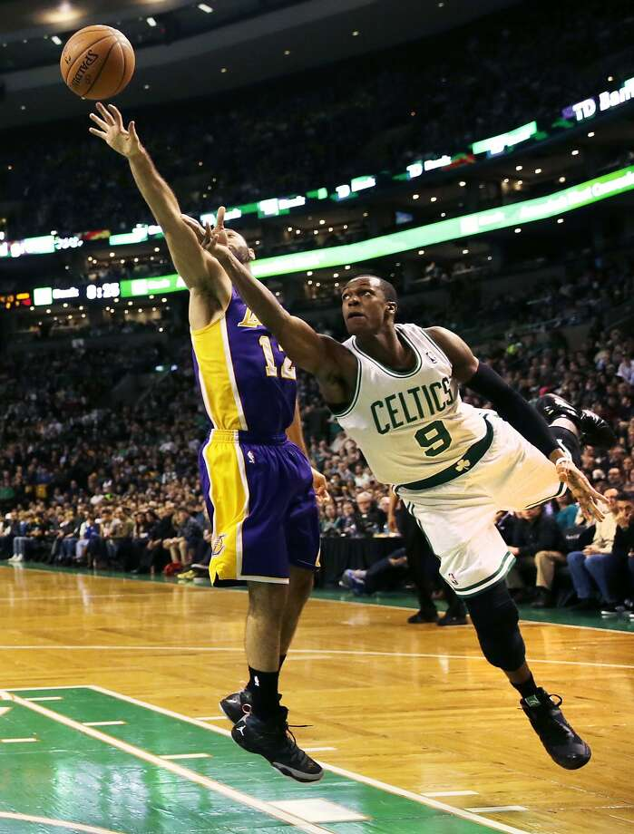 Boston's Rajon Rondo had eight points in his return from injury. Photo: Charles Krupa, Associated Press