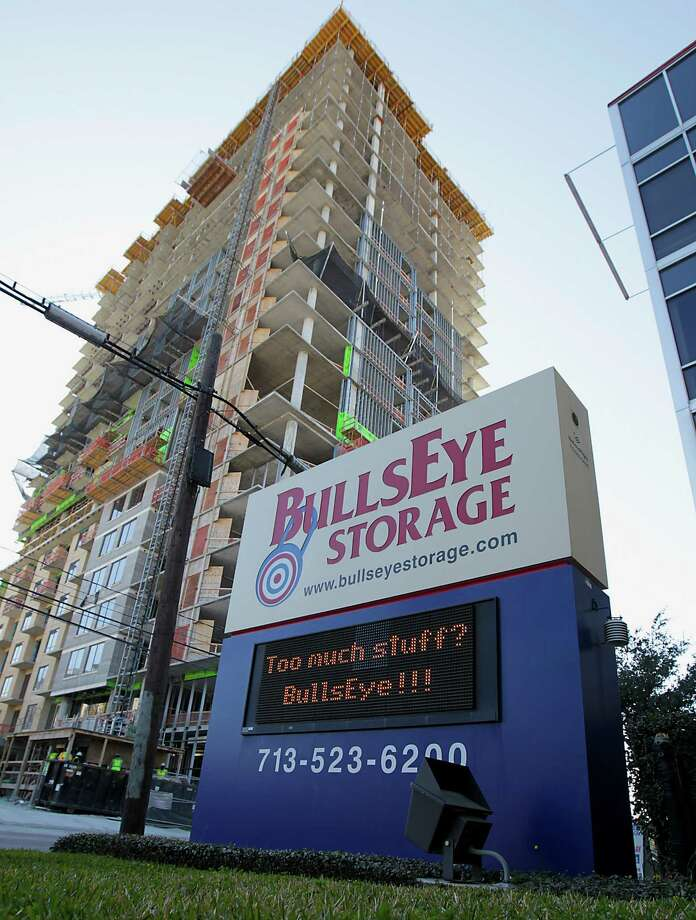 One reason for the growth in self-storage is the area's increasing number of apartment projects, such as the Sovereign at Regent Square on West Dallas. Photo: James Nielsen, Staff / © 2013  Houston Chronicle