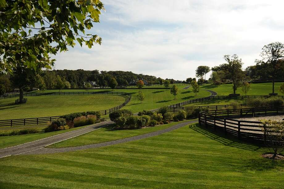The grounds of an 87-acre estate that hit the market for $55 million in Ridgefield Friday.  Photo Courtesy of Douglas Elliman Real Estate.