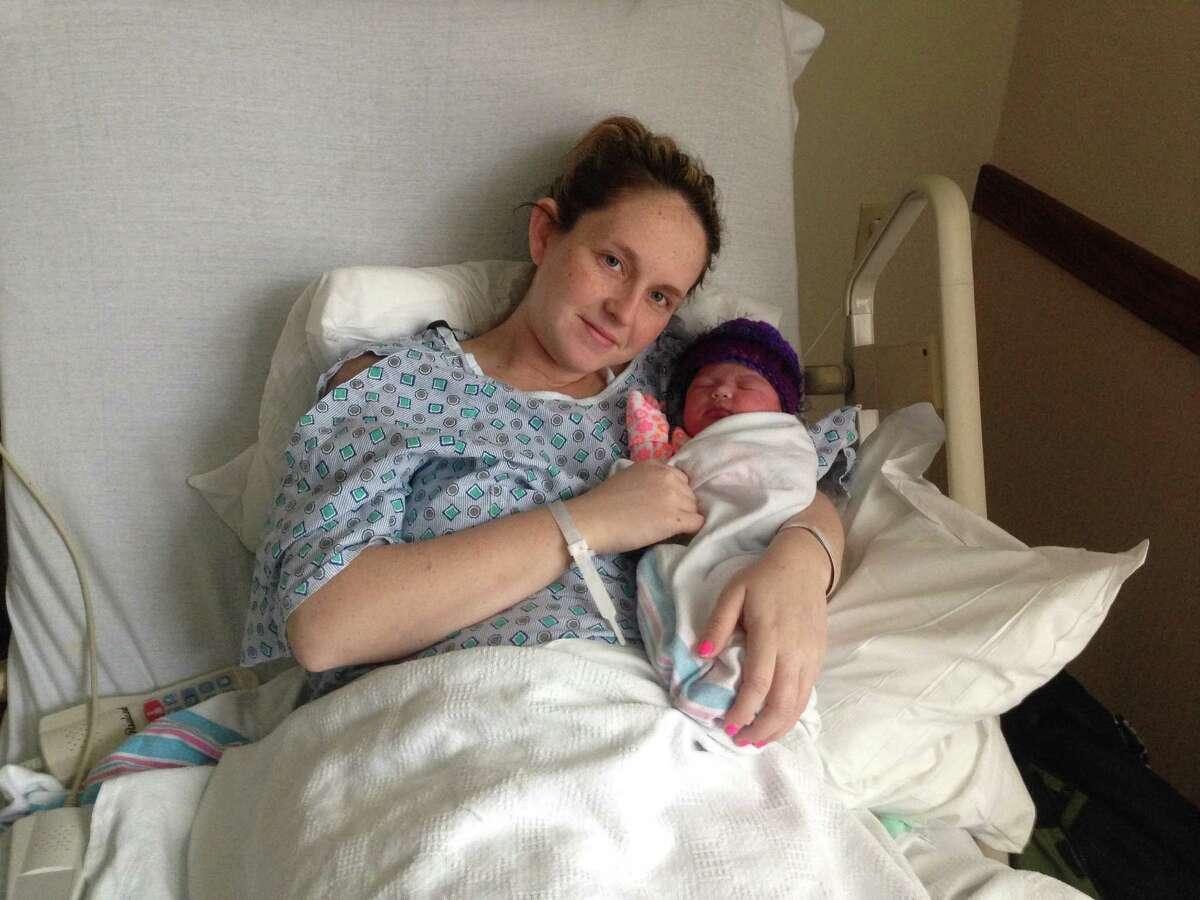 Megan Cruz with baby Abigail.