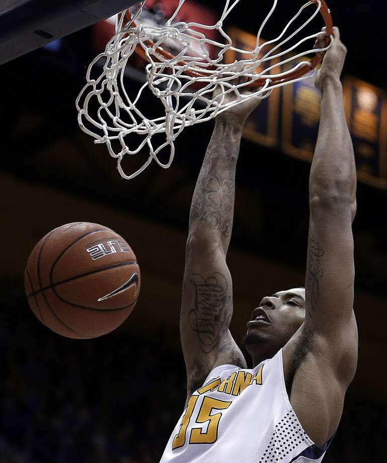 Cal's Richard Solomon (12 points, nine rebounds) had  four second-half dunks. Photo: Ben Margot, Associated Press