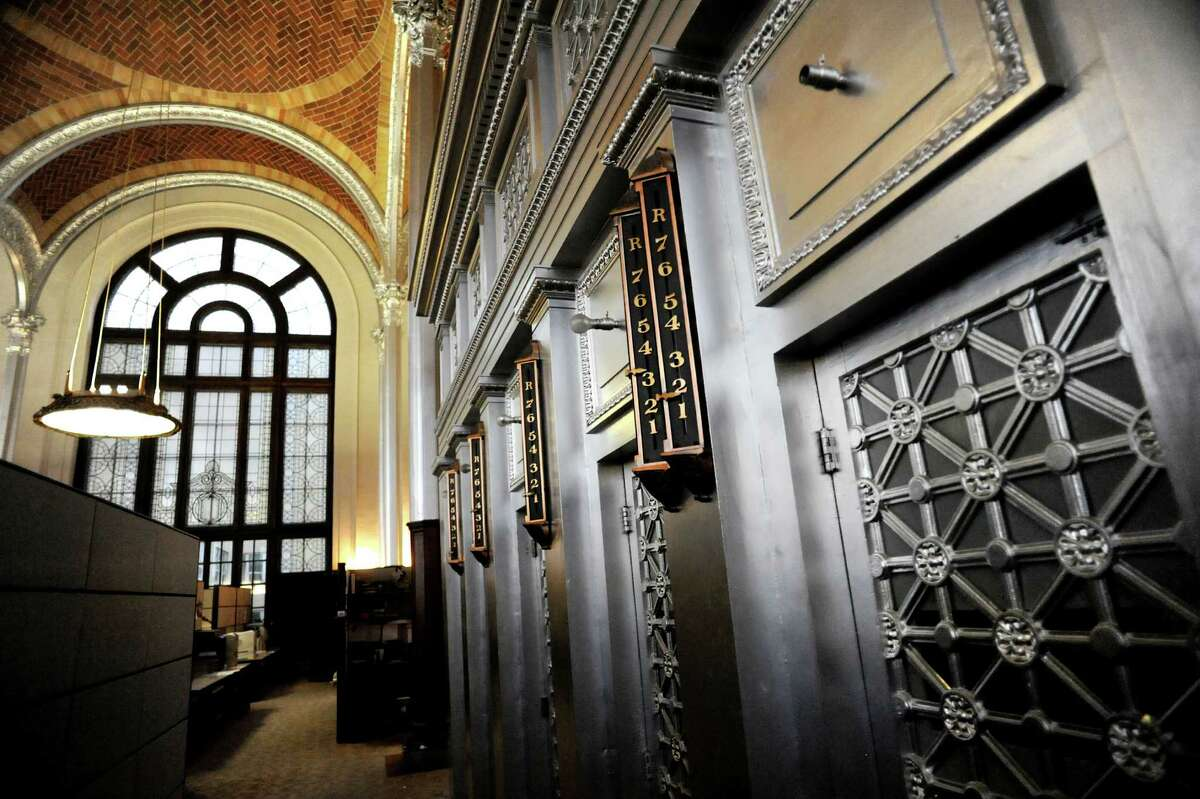 The stacks elevators in the Reading Room on Tuesday, Jan. 14, 2014, at the New York State Education Building in Albany, N.Y. (Cindy Schultz / Times Union)