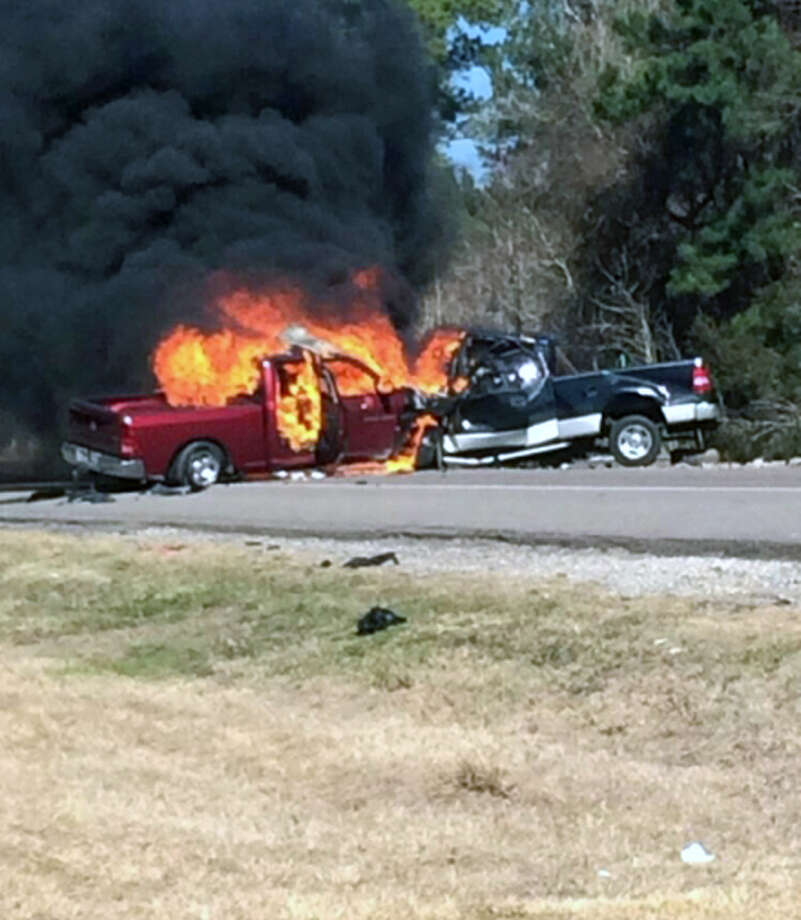 A traffic collision on Texas 62 near the Jasper-Newton county line has claimed two lives. Photo: Photo Provided By Kai Taylor