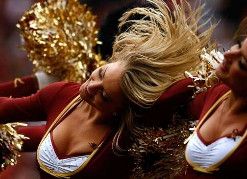 LANDOVER, MD - OCTOBER 18:  Washington Redskins cheerleaders perform during a game against the Kansas City Chiefs October 18, 2009 at FedEx Field in Landover, Maryland.The Chiefs won the game 14-6.  (Photo by Win McNamee/Getty Images) Photo: Win McNamee, Getty Images / 2009 Getty Images