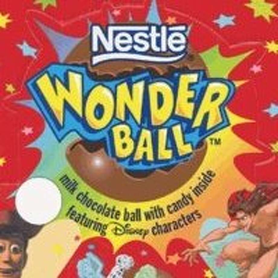 Wonder Balls- chocolate spheres with candy or toys inside that everyone loved. Photo: Nestle