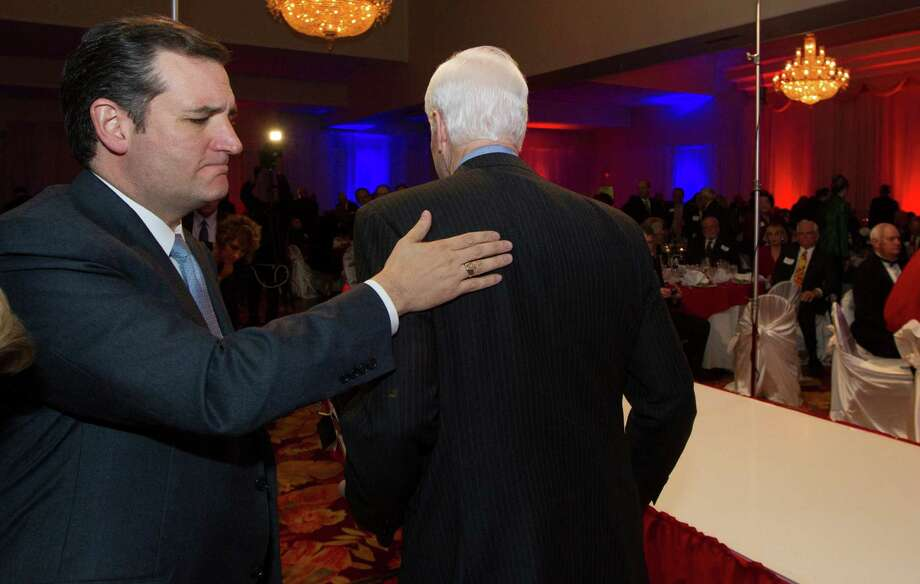 John Cornyn, though the senior senator, was the warm-up for Ted Cruz at a Fort Bend County event. Photo: J. Patric Schneider, Freelance / © 2014 Houston Chronicle