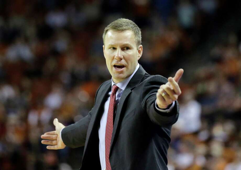 Iowa State coach Fred Hoiberg talks to his players during the second half on an NCAA college basketball game against Texas, Saturday, Jan. 18, 2014, in Austin, Texas. Texas won 86-76. (AP Photo/Eric Gay) Photo: Eric Gay, Associated Press / AP