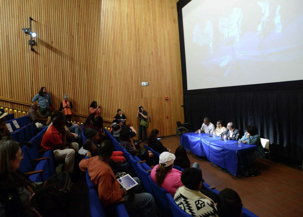 Freedom Riders answer questions after a screening of the film
