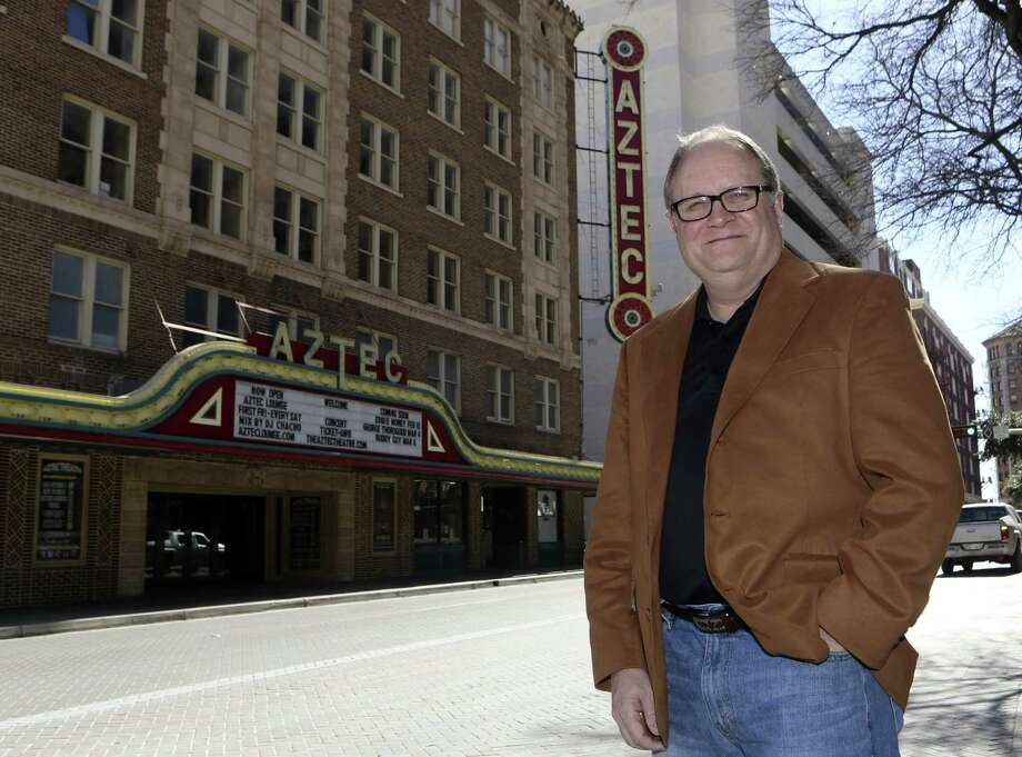 Sam's Burger Joint owner Keith Howerton is relaunching the Aztec Theatre as a live music venue. Photo: Helen L. Montoya / San Antonio Express-News / ©2013 San Antonio Express-News