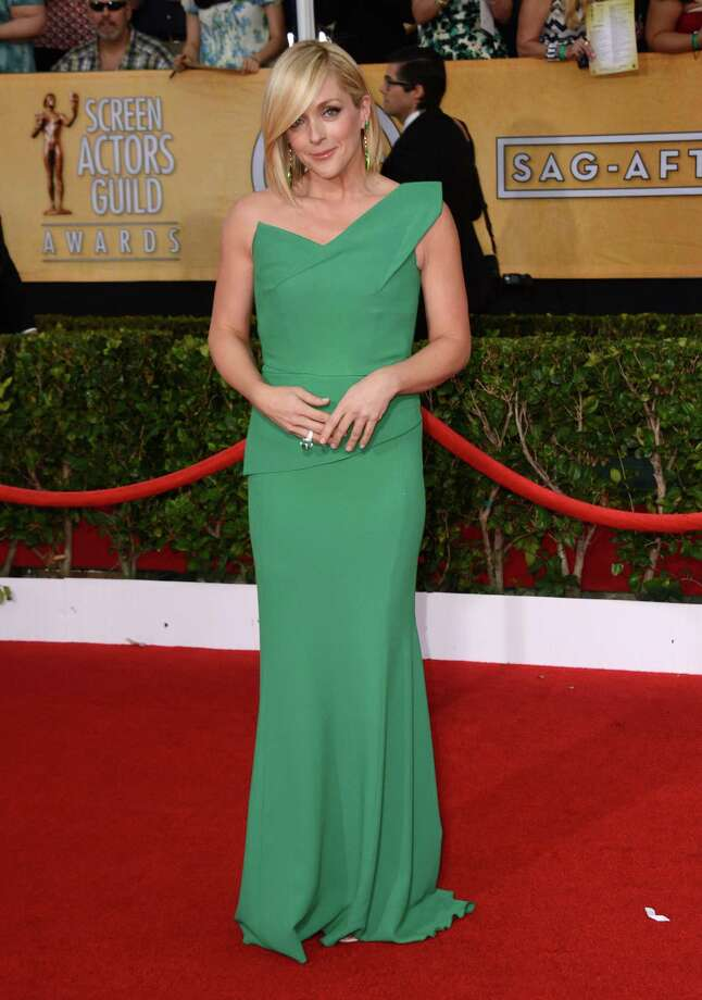 Jane Krakowski arrives at the 20th annual Screen Actors Guild Awards at the Shrine Auditorium in Los Angeles on Saturday, Jan. 18, 2014. In the first part of this gallery, we'll look at the red carpet fashions. First: Bright colors. Photo: Jordan Strauss, Jordan Strauss/Invision/AP / AP2014