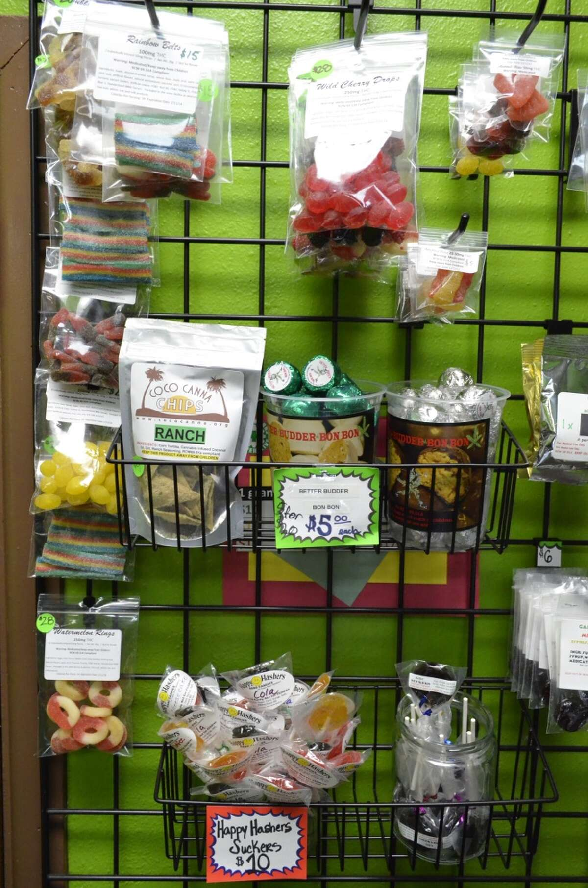 An example of the range of edibles available to medical marijuana patients. In just a few months, recreational users will have similar choices.