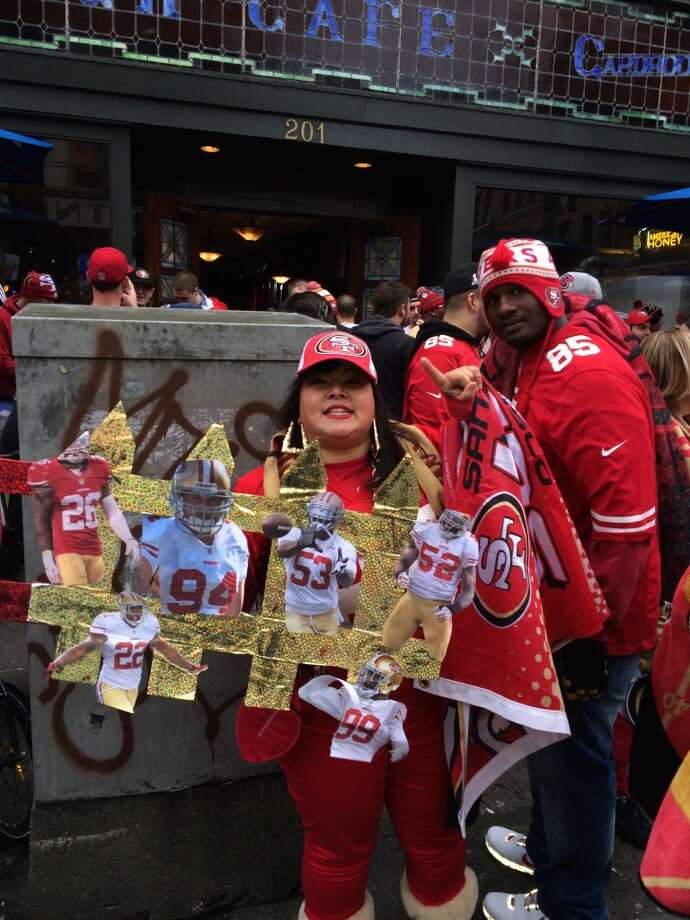 Rowdy 49er fans. (Al Saracevic/Chronicle)