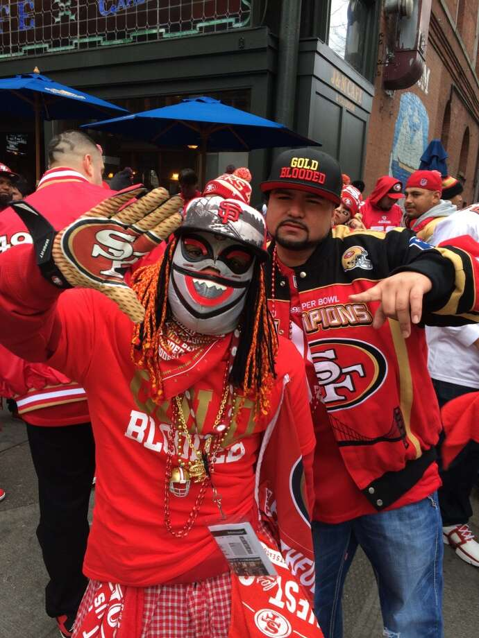 Scary Niner fan. (Al Saracevic/Chronicle)