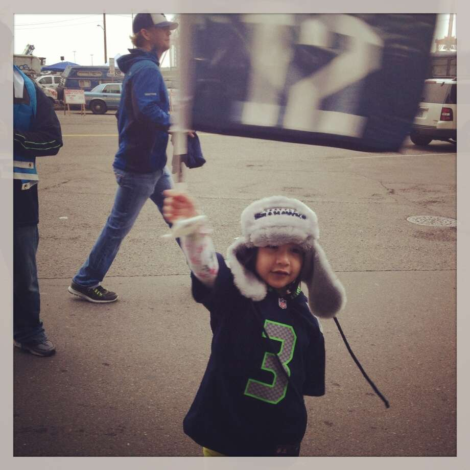 A particularly adorable Seahawks fan. Photo: Ann Killion, The Chronicle