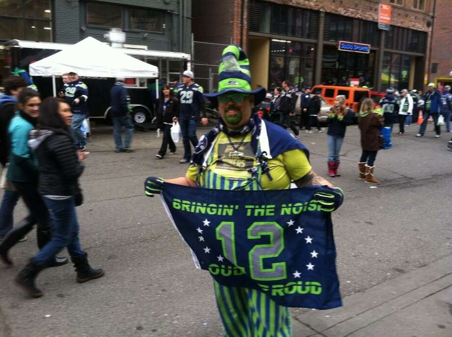 12th Man flags are everywhere. Photo: Scott Ostler, The Chronicle