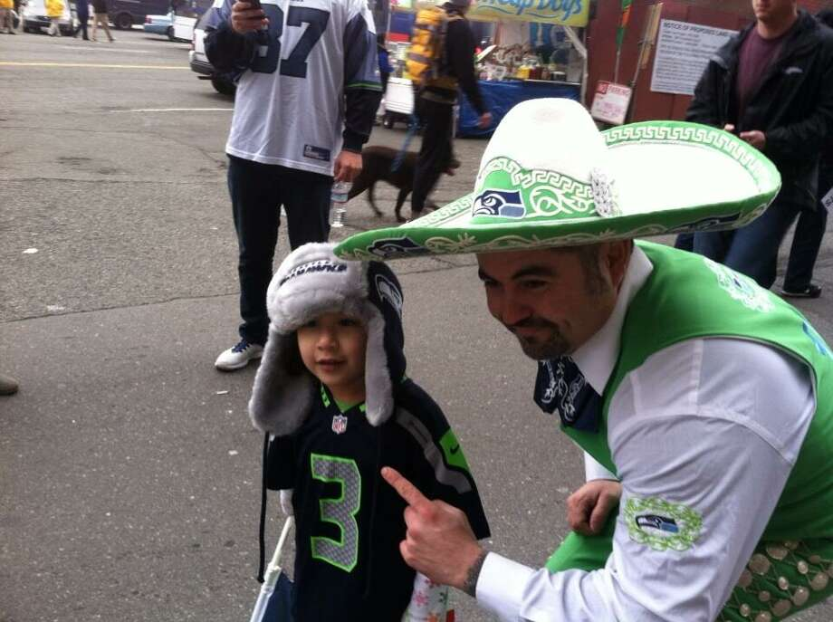 Another shot of our cute Seahawks fan. Photo: Scott Ostler, The Chronicle