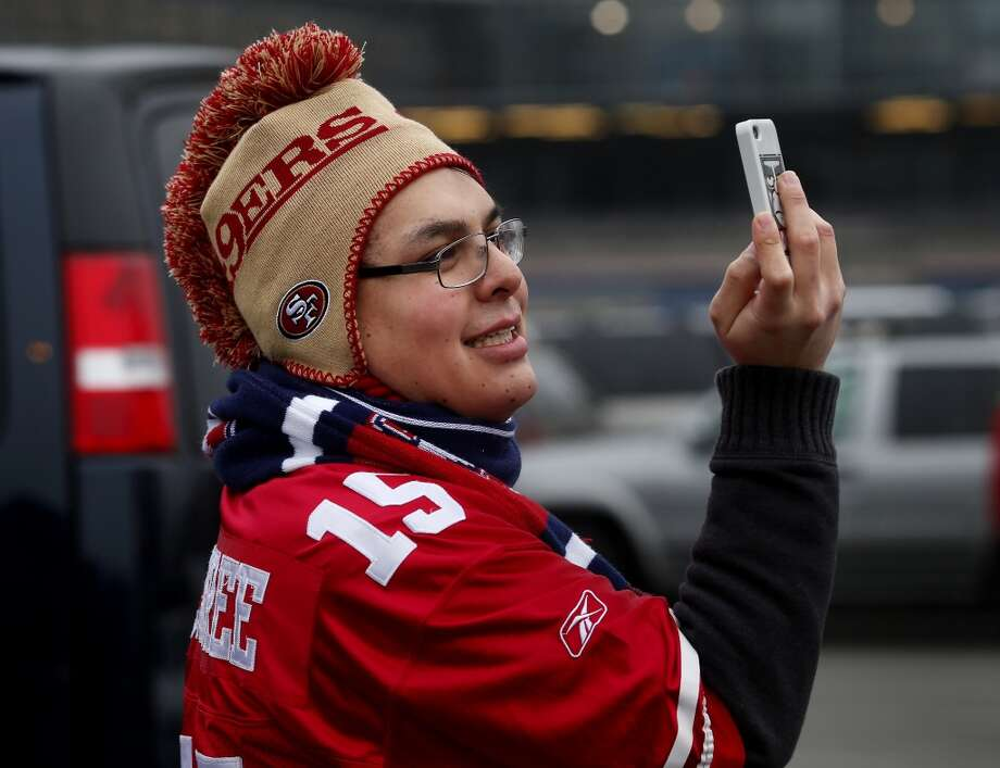 David Quevedo of San Francisco, Calif. pictured himself outside the stadium Sunday January 19, 2014. The San Francisco 49ers meet the Seattle Seahawks for the NFC title at CenturyLink field in Seattle, Washington. Photo: The Chronicle