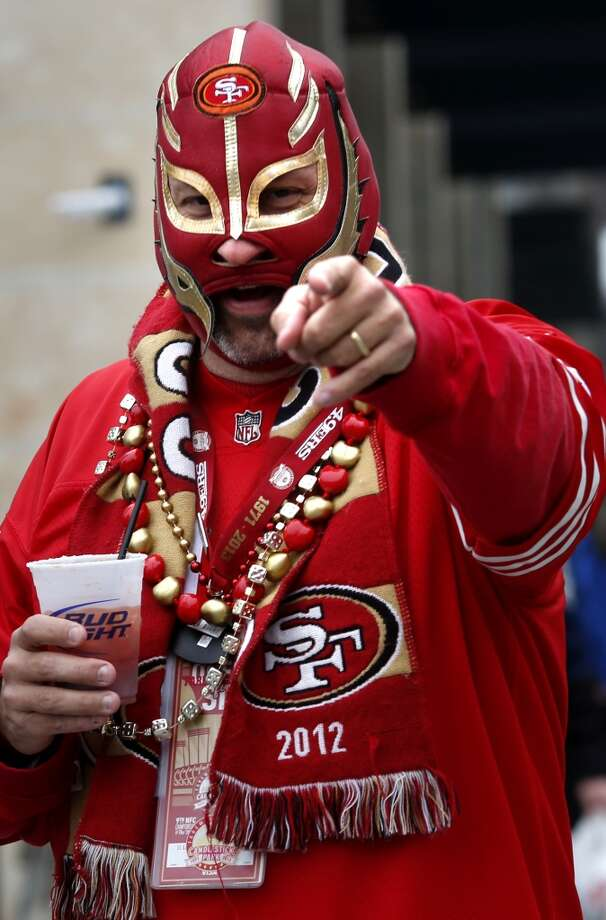 Dakota Sheets from Colfax, Calif., in full regalia, enjoyed a beverage before the start of the game Sunday January 19, 2014. The San Francisco 49ers meet the Seattle Seahawks for the NFC title at CenturyLink field in Seattle, Washington. Photo: The Chronicle