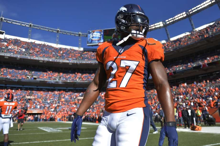 Denver running back Knowshon Moreno gets ready for the AFC Championship game between the Broncos and Patriots. Photo: Jack Dempsey, Associated Press
