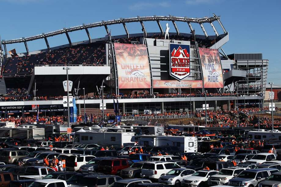 And finally, which town has given in to filthy lucre the most. Denver went with Invesco Field at Mile High. Now it's Sports Authority Field at Mile High. At least the folks threw a sop to the old name. Photo: Doug Pensinger, Getty Images