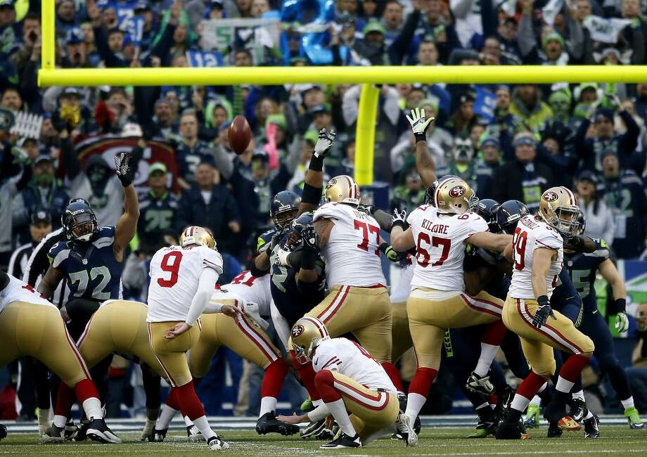 SEATTLE, WA - JANUARY 19: Kicker Phil Dawson #9 of the San Francisco 49ers makes a field goal in the first quarter against the Seattle Seahawks during the 2014 NFC Championship at CenturyLink Field on January 19, 2014 in Seattle, Washington.  (Photo by Otto Greule Jr/Getty Images) Photo: Otto Greule Jr, Getty Images