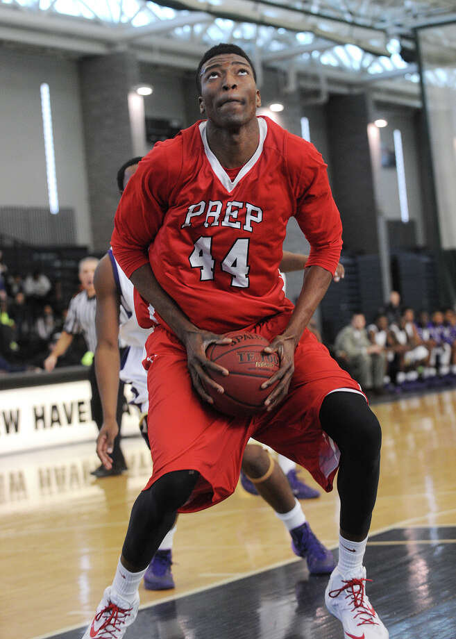 (4) The power of Pascal. Pascal Chukwu had a monster game in Fairfield Prep's 70-58 win over Hillhouse on Friday. The dominating center finished with a a game high in points (24) and blocked shots (9). He also pulled down nine rebounds. Photo: Brian A. Pounds / Connecticut Post